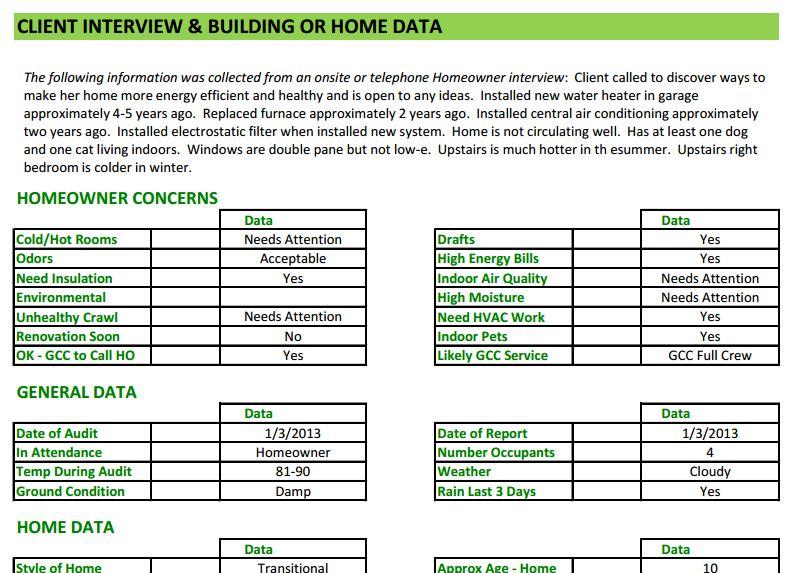 Energy Audit Software